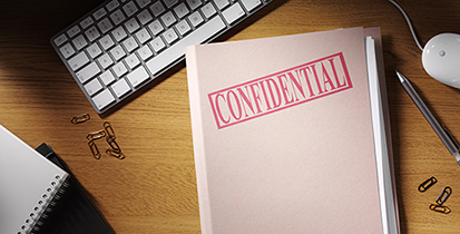 Confidential Folder on a Desk